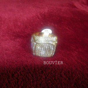 18K Solid Gold Diamond GM Luxury Ring